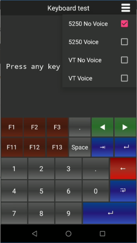 Zebra – Display and hide the Virtual Keyboard with a key   TellNext